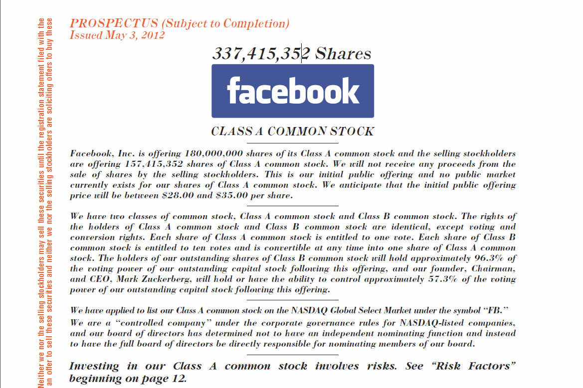 Monday the facebook ipo willems planet the first page of the facebook prospectus buycottarizona Images