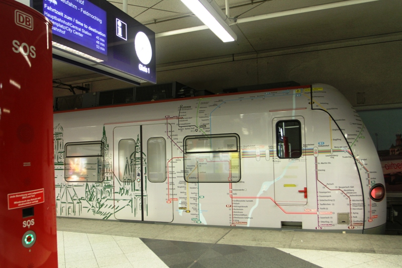 S Bahn train at airport station