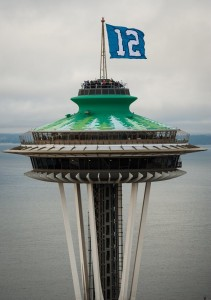 12th Man Flag Space Needle
