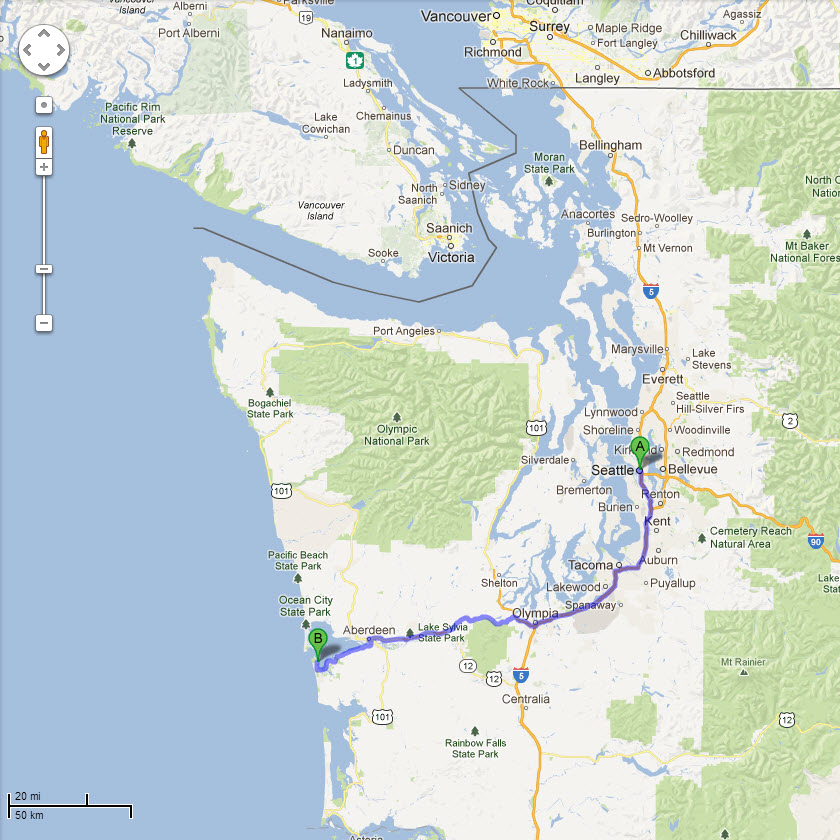 Seattle to Westport