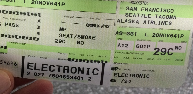 Alaska Airlines Boarding Pass Pictures To Pin On Pinterest