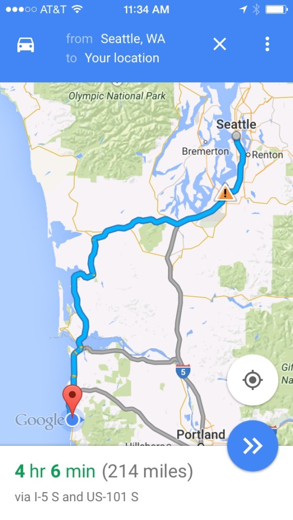 The drive came to about 5 hrs with stops.