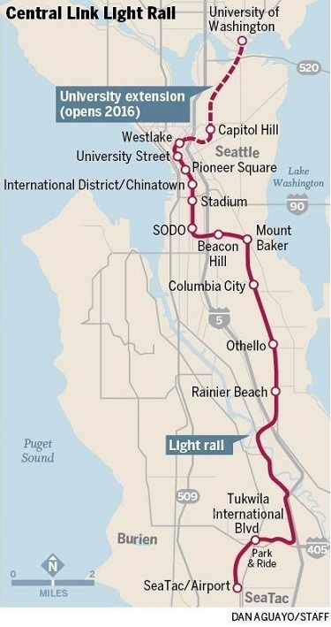 Saturday/ the Light Rail U-link extension opens – Willem's