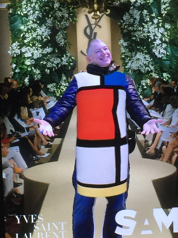 7da0eb7232f I am 'modeling' the Mondrian dress, one of Saint Laurent's most famous  contributions to the fashion world, introduced in the Fall-Winter 1965  collection.